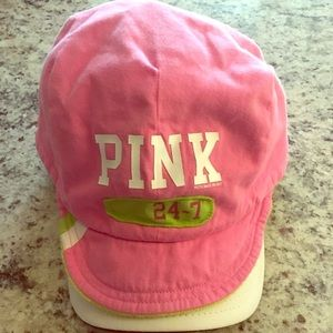 Victoria Secret Pink Hat Hot Pink/Lime Green o/s